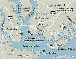 Fort Sumpter Area Map