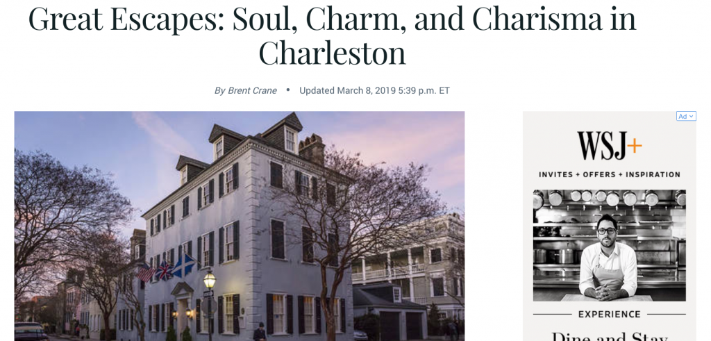 """Great Escapes: Soul, Charm, and Charisma in Charleston"" Barron.com"